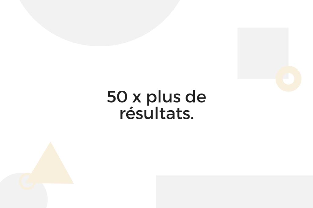 50 x plus de résultats Google Ads.