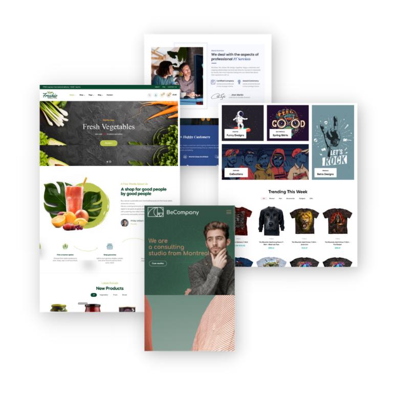 Websites showcase mosaic